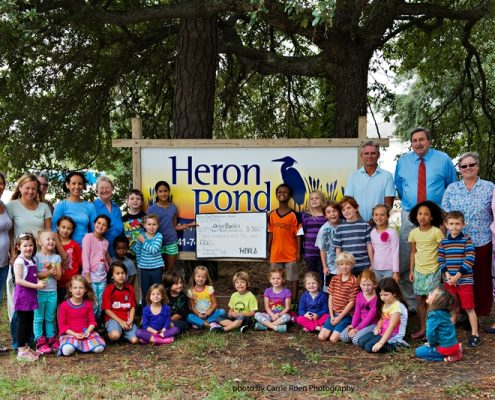 Heron Pond Montessori School's donation to OBRF - 092313
