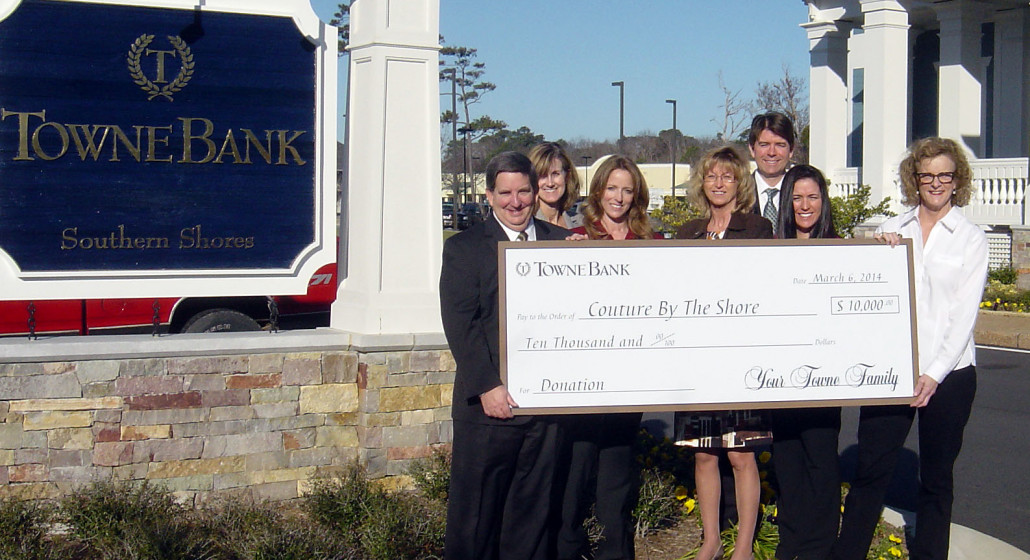Towne Bank Is Presenting Sponsor of Couture By The Shore - 031714