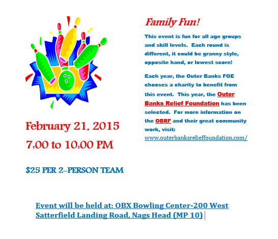 Fraternal Order of Eagles Bowling Flyer - 022115